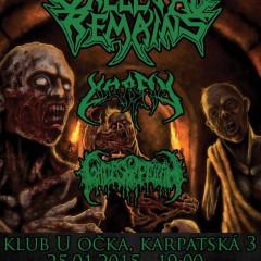 Koncert – Skeletal Remains, Morfin, Gates Of Ptulah, 25. január 2015, U očka, Bratislava