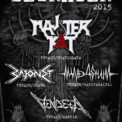 Koncert – Majster Kat, Bajonet, Mind Asylum, Vendeta, 27. a 28. marec 2015, Praha a Mladá Boleslav