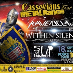 Koncert – Cassovians Metalliance Fest, RAVENCLAW, WITHIN SILENCE, SLIP OF THE LIP, Piatok 18.9.2015, Košice – Collosseum