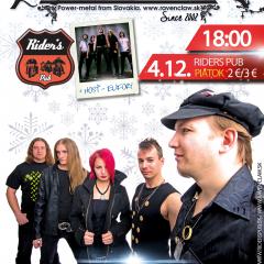 Koncert – Ravenclaw, Eufory – 4.12.2015, Košice – Riders Pub