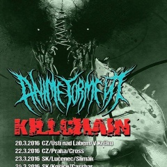 KILLCHAIN spolu s ANIME TORMENT vyrážajú na Kill Torment Tour 2016! Zastavia sa aj v Košiciach a Lučenci.