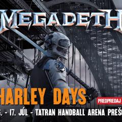 MEGADETH vystúpi na Harley Days v Prešove!
