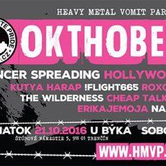 Okthober Fest 2016 alebo dva dni plné punku, grindu, crustu a ďalších odnoží v Trenčíne!