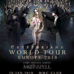 Report – Cradle of Filth, Moonspell – 20. 1. 2018, Bratislava, MMC
