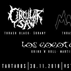 Circular Saw / Manyac / Los Cocotos v Banskej Bystrici už zajtra!