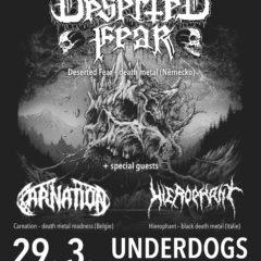 Death metalový večierok tento piatok v Pražskom klube Underdogs