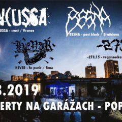 Koncerty na garážach v Poprade – už zajtra!