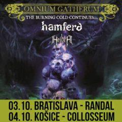 OMNIUM GATHERUM sú na turné s HAMFERÐ, predstavia sa v Bratislave aj v Košiciach!