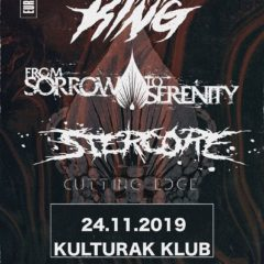 Metalcore v Bratislave už túto nedeľu! FOR I AM KING + FROM SORROW TO SERENITY a domáca skvadra STERCORE