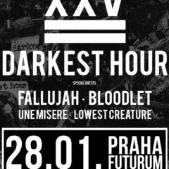 Darkest Hour oslavujú 25 rokov. Do Prahy zavítajú spolu Fallujah, Bloodlet či Une Misére!