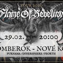 FLAME OF REBELLION TOUR 2020 pokračuje tento víkend v Nitre a v Ružomberku!