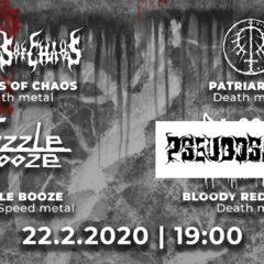 Realms of Chaos, Patriarcha, Guzzle Booze, Pseudosapiens v sobotu vo Zvolene!