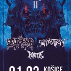 Report – Suffocation, Belphegor, Hate, Shadowmass, Carnosus – 1. 3. 2020 – Colloseum Club, Košice