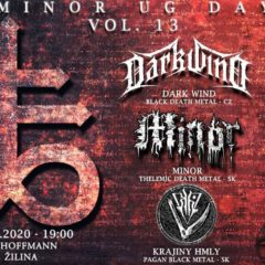 MINOR UG DAY VOL.13 Krst CD MINOR – Book of Shadows! Túto sobotu v Žiline!