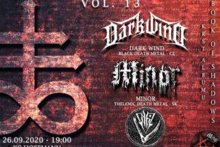 MINOR UG DAY VOL.13 Krst CD MINOR – Book of Shadows! Túto sobotu v Žiline!