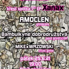AMOCLEN a BAMBULKYNE DOBRODRUŽSTVÁ pokrstia v Liberci nové Split 7″ EP XANAX!