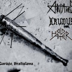 ANTARES / KRUDUS / OLD HAMMER v piatok na Garážach v Bratislave!