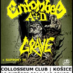 Report – ENTOMBED A.D., GRAVE, IMPLODE, 16. október 2014, Collosseum Club, Košice