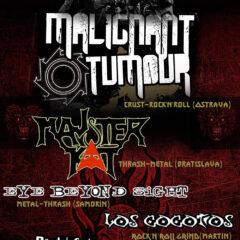 Koncert – Malignant Tumour; Majster Kat; Eye Beyond Sight; Los Cocotos – 06.09.2013 (Randal club – Bratislava)
